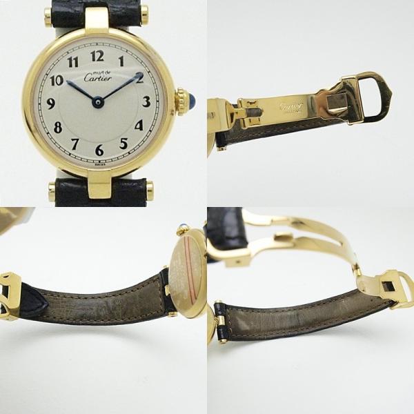 カルティエ Cartier レディース腕時計 マスト ヴェルメイユ SV(シルバー)/革 白文字盤 中古 新入荷 おすすめ|ronde|05