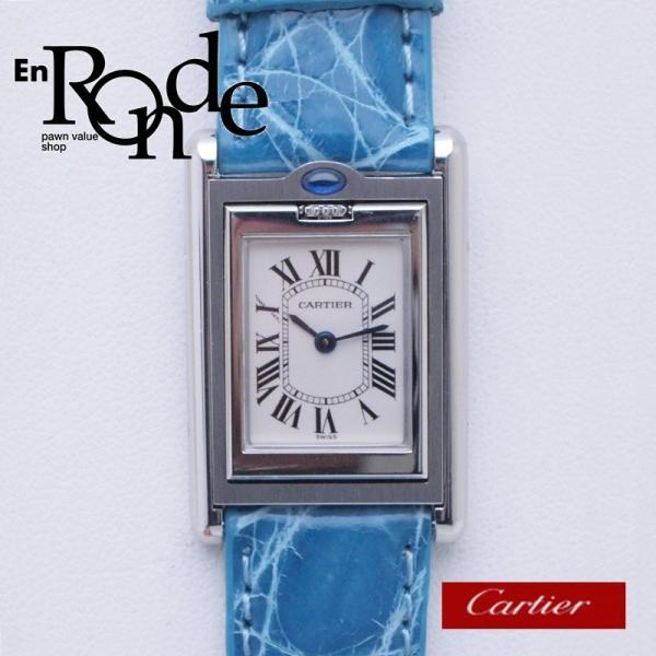 カルティエ Cartier レディース腕時計 タンク・バスキュラント SS/革 アイボリー文字盤 中古 新入荷 おすすめ|ronde