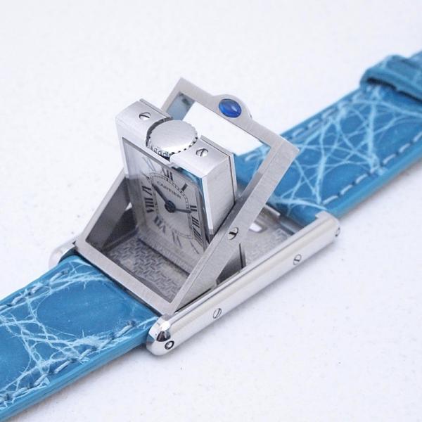 カルティエ Cartier レディース腕時計 タンク・バスキュラント SS/革 アイボリー文字盤 中古 新入荷 おすすめ|ronde|04