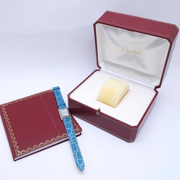 カルティエ Cartier レディース腕時計 タンク・バスキュラント SS/革 アイボリー文字盤 中古 新入荷 おすすめ|ronde|06