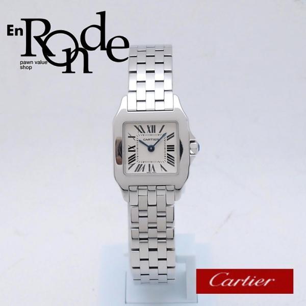カルティエ Cartier レディース腕時計 サントス ドゥモワゼル SS(ステンレス) アイボリー文字盤 中古 新入荷 おすすめ CA0364|ronde