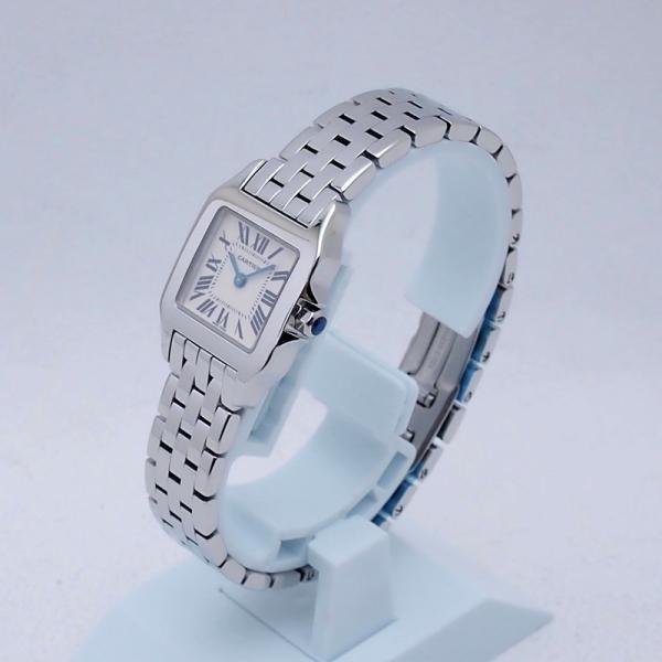 カルティエ Cartier レディース腕時計 サントス ドゥモワゼル SS(ステンレス) アイボリー文字盤 中古 新入荷 おすすめ CA0364|ronde|02