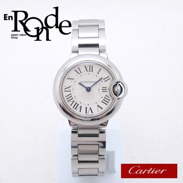 カルティエ Cartier レディース腕時計 バロンブルーSM W69010Z4 SS(ステンレス) シルバー文字盤 中古 新入荷 おすすめ CA0360 ronde
