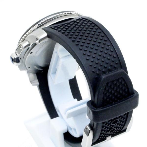 カルティエ Cartier メンズ腕時計 カリブルドゥカルティエ ダイバー W7100056 ステンレス/ラバー 黒文字盤 中古|ronde|03