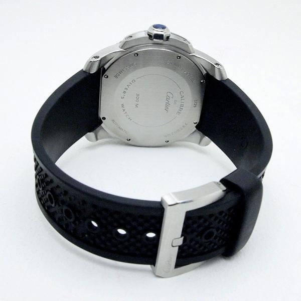 カルティエ Cartier メンズ腕時計 カリブルドゥカルティエ ダイバー W7100056 ステンレス/ラバー 黒文字盤 中古|ronde|05