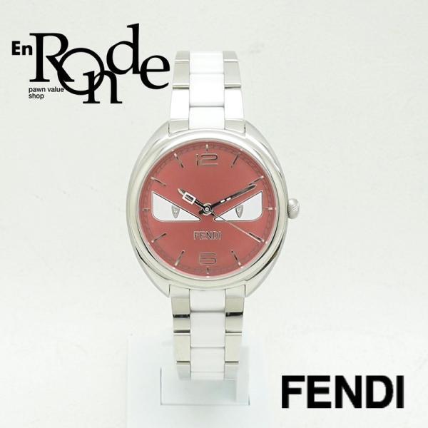 フェンディ レディース腕時計 バグズモンスター 003-21000M-819 SS/ダイヤ オレンジ文字盤 中古 新入荷 おすすめ OW0197 新着|ronde
