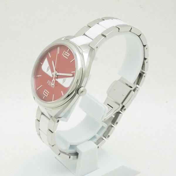フェンディ レディース腕時計 バグズモンスター 003-21000M-819 SS/ダイヤ オレンジ文字盤 中古 新入荷 おすすめ OW0197 新着|ronde|02