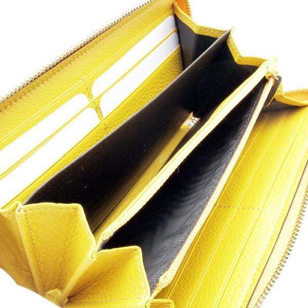 グッチ GUCCI 長財布 ラウンドファスナー財布 307984 キャンバス/レザー 黄色 中古|ronde|03