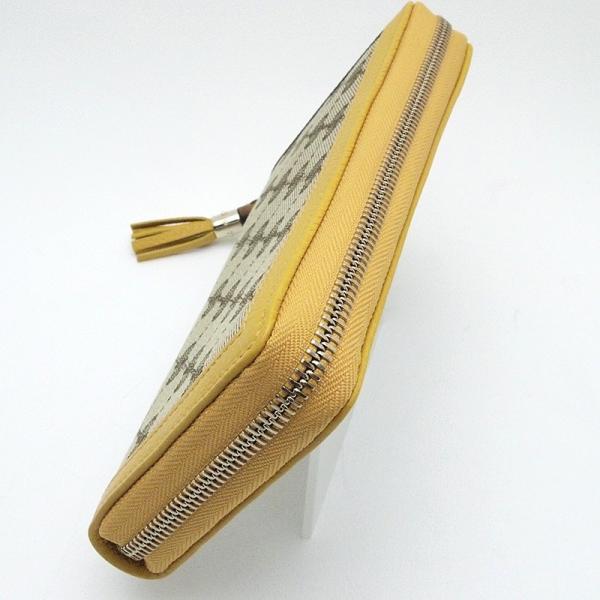 グッチ GUCCI 長財布 ラウンドファスナー財布 307984 キャンバス/レザー 黄色 中古|ronde|05
