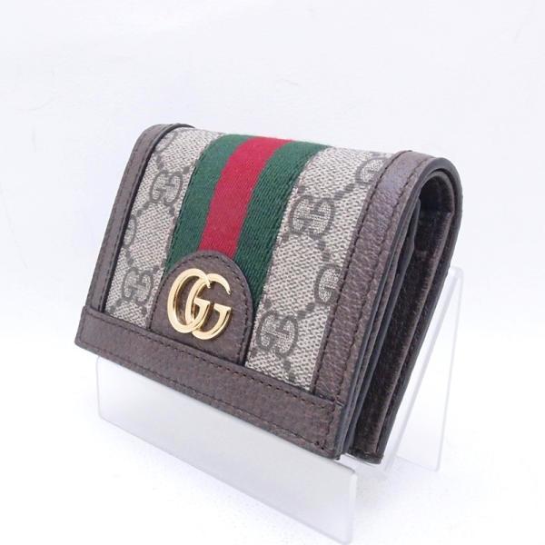グッチ GUCCI 二つ折財布 コンパクト財布 523155 GGスプリーム/レザー オフィディア 新品同様 新入荷 おすすめ GU0192|ronde|02