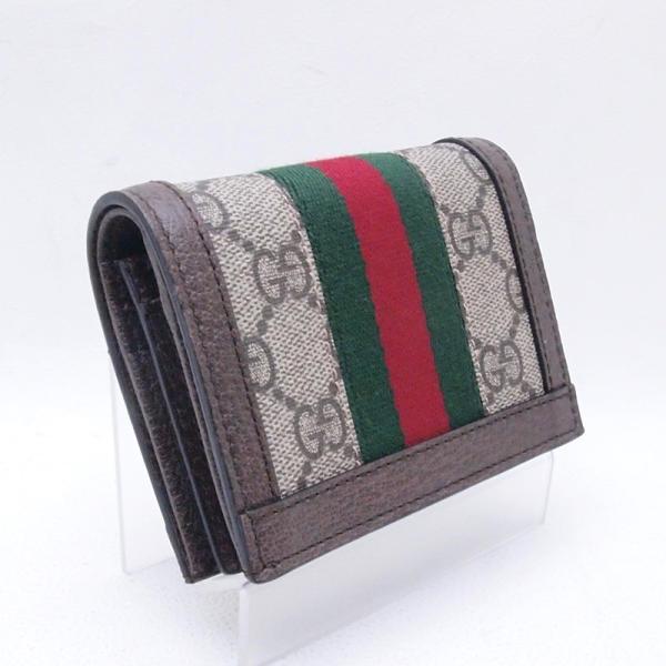 グッチ GUCCI 二つ折財布 コンパクト財布 523155 GGスプリーム/レザー オフィディア 新品同様 新入荷 おすすめ GU0192|ronde|03