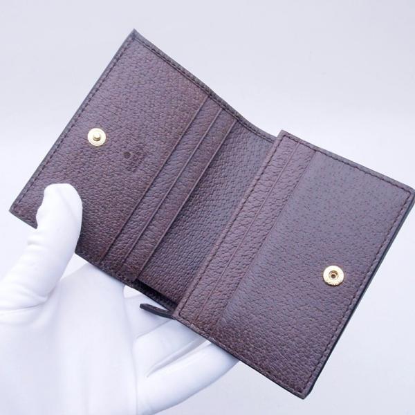 グッチ GUCCI 二つ折財布 コンパクト財布 523155 GGスプリーム/レザー オフィディア 新品同様 新入荷 おすすめ GU0192|ronde|04