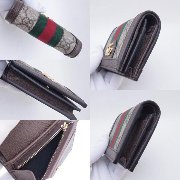 グッチ GUCCI 二つ折財布 コンパクト財布 523155 GGスプリーム/レザー オフィディア 新品同様 新入荷 おすすめ GU0192|ronde|05