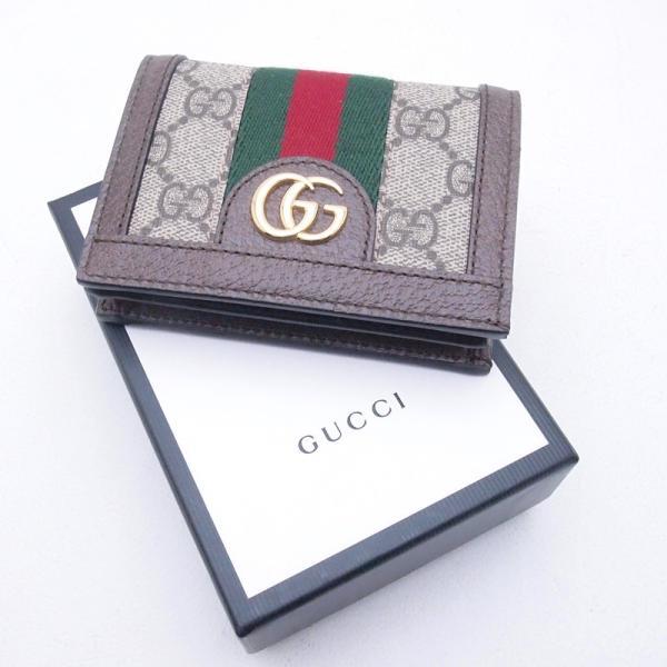グッチ GUCCI 二つ折財布 コンパクト財布 523155 GGスプリーム/レザー オフィディア 新品同様 新入荷 おすすめ GU0192|ronde|06