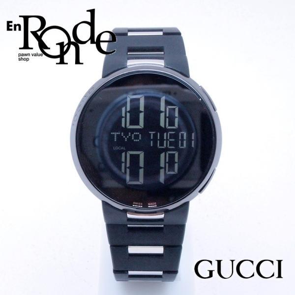 グッチ GUCCI メンズ腕時計 Iグッチ SS/ラバー 黒文字盤 中古 新入荷 おすすめ|ronde