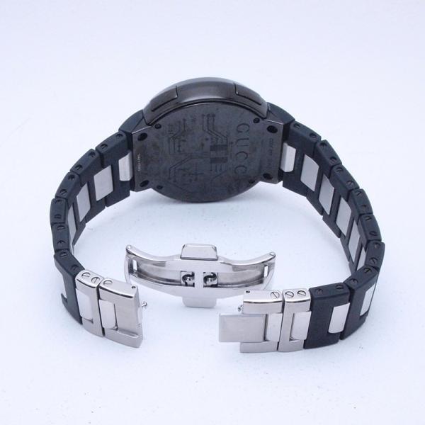 グッチ GUCCI メンズ腕時計 Iグッチ SS/ラバー 黒文字盤 中古 新入荷 おすすめ|ronde|04