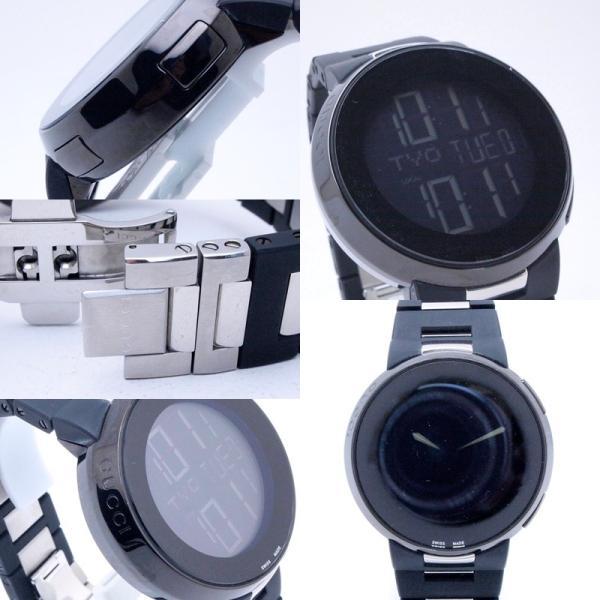 グッチ GUCCI メンズ腕時計 Iグッチ SS/ラバー 黒文字盤 中古 新入荷 おすすめ|ronde|05