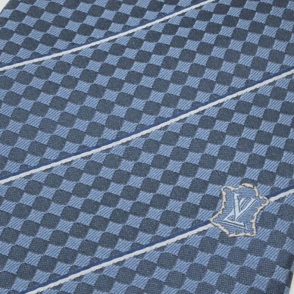 ルイ・ヴィトン LOUISVUITTON 小物アクセサリー クラヴァット・エク M67978 シルク100% ブルーモワイヤン 新品同様 新着|ronde|05
