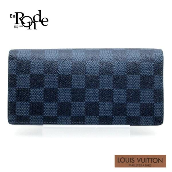 ルイ・ヴィトン LOUISVUITTON 長財布 ブラザ N63212 コーティングレザー ダミエ コバルト 中古 おすすめ|ronde