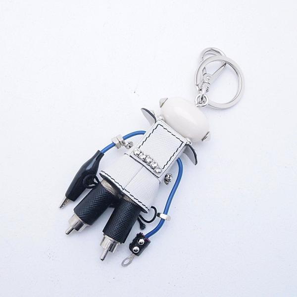 プラダ 小物アクセサリー チャーム ロボット ナンシー 1ARH67 ホワイト/ブラック 中古 新入荷 おすすめ|ronde|02