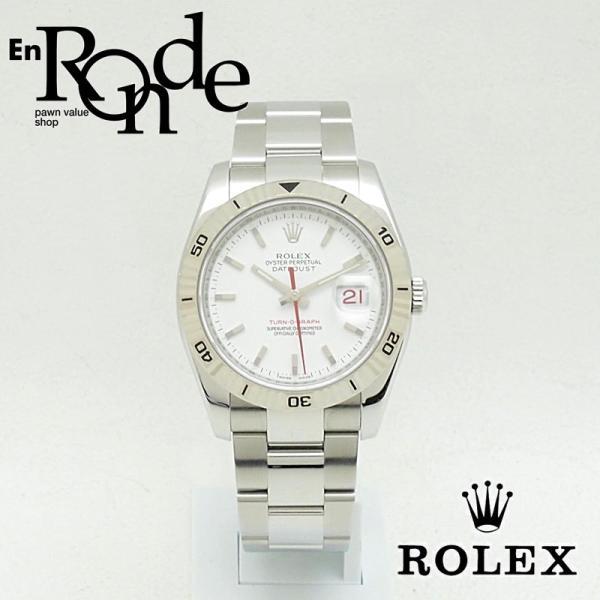 ロレックス ROLEX メンズ腕時計 デイトジャスト ターノグラフ 116264 SS(ステンレス) ホワイト文字盤 中古 新入荷 おすすめ RO0170 新着 ronde