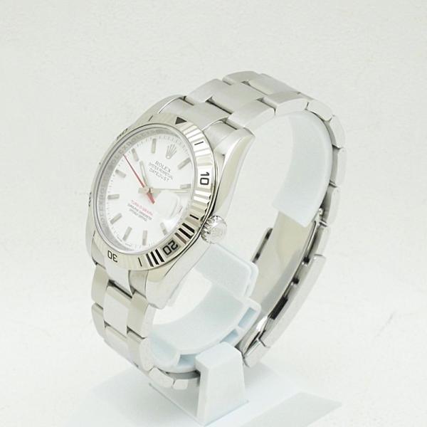 ロレックス ROLEX メンズ腕時計 デイトジャスト ターノグラフ 116264 SS(ステンレス) ホワイト文字盤 中古 新入荷 おすすめ RO0170 新着 ronde 02