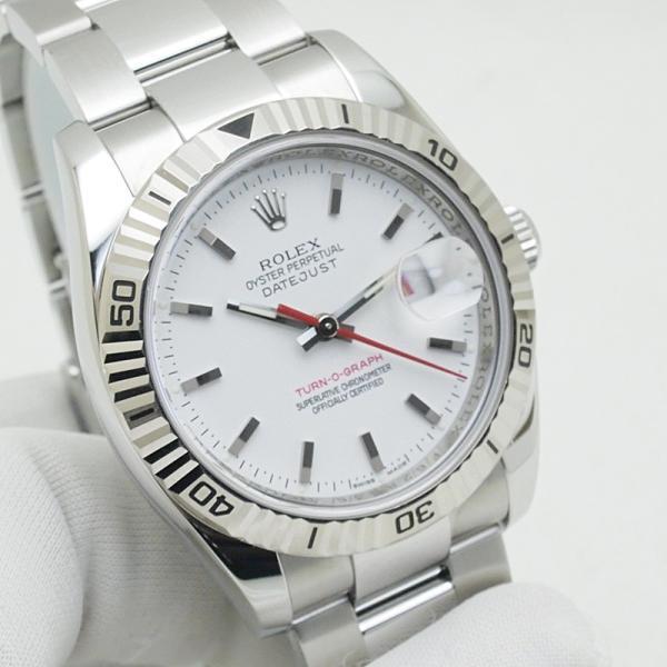 ロレックス ROLEX メンズ腕時計 デイトジャスト ターノグラフ 116264 SS(ステンレス) ホワイト文字盤 中古 新入荷 おすすめ RO0170 新着 ronde 06