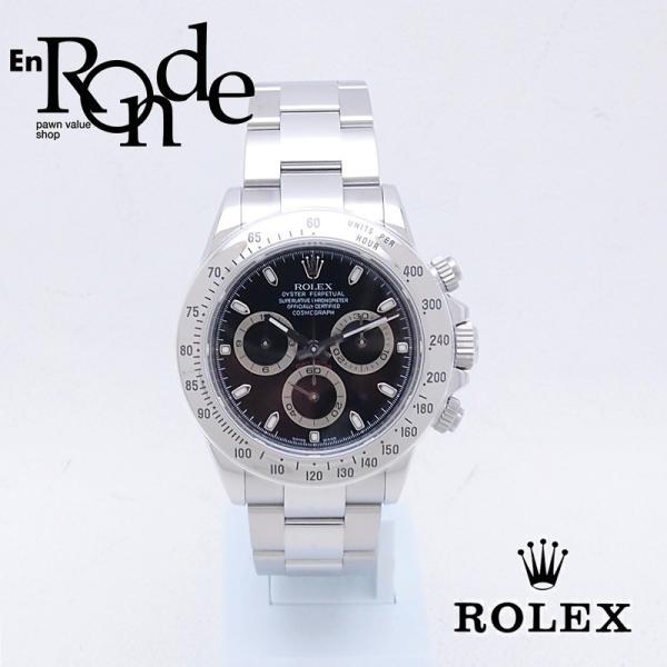 ロレックス ROLEX メンズ腕時計 デイトナ 116520 SS(ステンレス) ブラック文字盤 中古 新入荷 おすすめ RO0172 新着|ronde