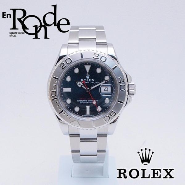 ロレックス ROLEX メンズ腕時計 ヨットマスター 116622 SS/Pt ブルー文字盤 中古 新入荷 新着|ronde