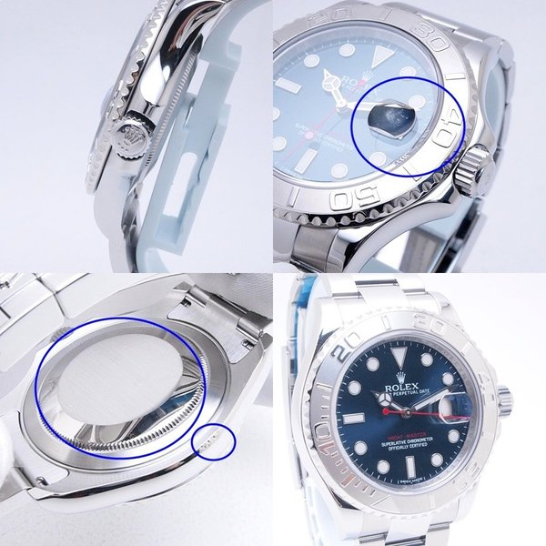 ロレックス ROLEX メンズ腕時計 ヨットマスター 116622 SS/Pt ブルー文字盤 中古 新入荷 新着|ronde|05