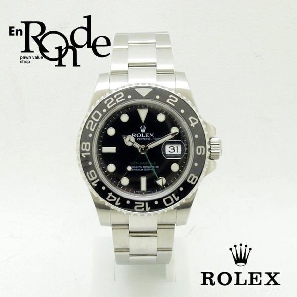 ロレックス ROLEX メンズ腕時計 GMTマスターII 116710LN SS(ステンレス) ブラック文字盤 中古 新入荷 おすすめ RO0157|ronde