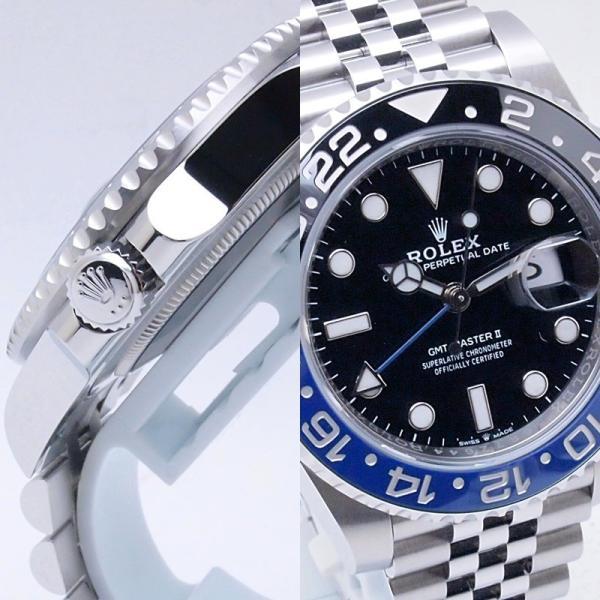 ロレックス ROLEX メンズ腕時計 GMTマスターII ジュビリーブレスレット 126710BLNR SS ブラック文字盤 新品同様 新入荷 おすすめ 新着|ronde|05