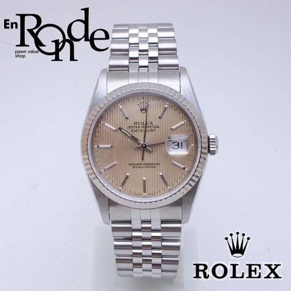 half off 0b204 f22bd ロレックス ROLEX メンズ腕時計 デイトジャスト 16234 SS/WG タペストリー文字盤 中古 新入荷 おすすめ