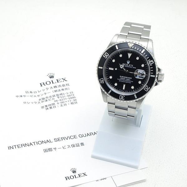ロレックス ROLEX メンズ腕時計 サブマリーナ 16610 SS(ステンレス) ブラック文字盤 中古 新入荷 おすすめ 新着 ronde 06