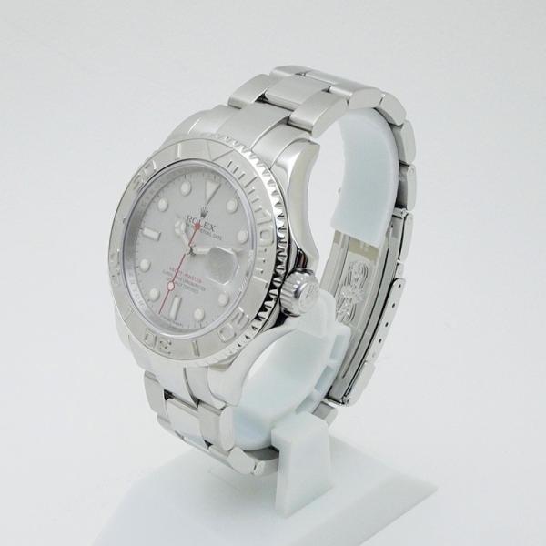 ロレックス ROLEX メンズ腕時計 ヨットマスター ロレジウム 16622 SS/Pt シルバー文字盤 中古 新入荷 おすすめ|ronde|02