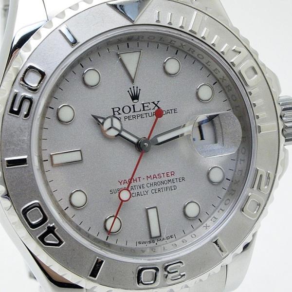 ロレックス ROLEX メンズ腕時計 ヨットマスター ロレジウム 16622 SS/Pt シルバー文字盤 中古 新入荷 おすすめ|ronde|06