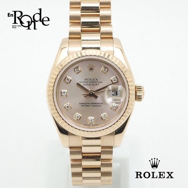 947ee7bfd4 ロレックス ROLEX レディース時計 デイトジャスト 179175G K18PG(ピンクゴールド) ピンク文字盤 中古| ...