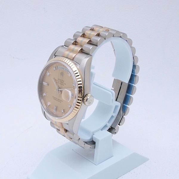 ロレックス ROLEX メンズ腕時計 デイデイト 18239ABIC K18WG/YG/PG シャンパン文字盤 中古 新入荷 おすすめ|ronde|02