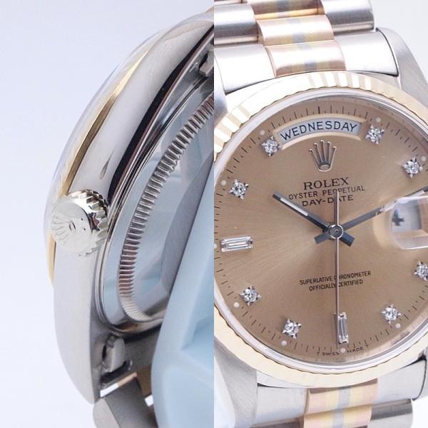 ロレックス ROLEX メンズ腕時計 デイデイト 18239ABIC K18WG/YG/PG シャンパン文字盤 中古 新入荷 おすすめ|ronde|06
