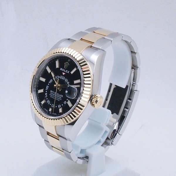 ロレックス ROLEX メンズ腕時計 スカイドゥエラー 326933 SS/YG ブラック文字盤 新品同様 新入荷 おすすめ 新着|ronde|02