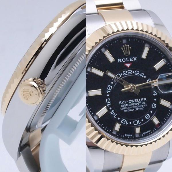 ロレックス ROLEX メンズ腕時計 スカイドゥエラー 326933 SS/YG ブラック文字盤 新品同様 新入荷 おすすめ 新着|ronde|05