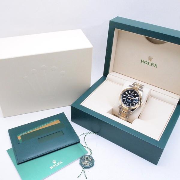 ロレックス ROLEX メンズ腕時計 スカイドゥエラー 326933 SS/YG ブラック文字盤 新品同様 新入荷 おすすめ 新着|ronde|06
