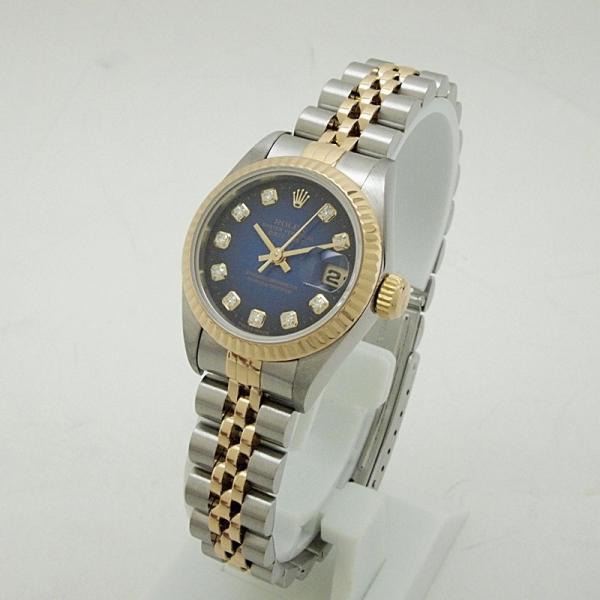 ロレックス ROLEX レディース腕時計 デイトジャスト 69173G SS(ステンレス)/YG ダイヤ ブル−グラデーション文字盤 中古 新入荷 おすすめ ronde 02