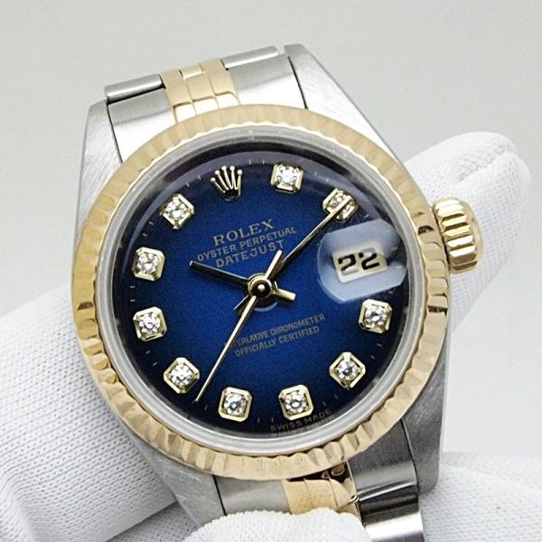 ロレックス ROLEX レディース腕時計 デイトジャスト 69173G SS(ステンレス)/YG ダイヤ ブル−グラデーション文字盤 中古 新入荷 おすすめ ronde 05