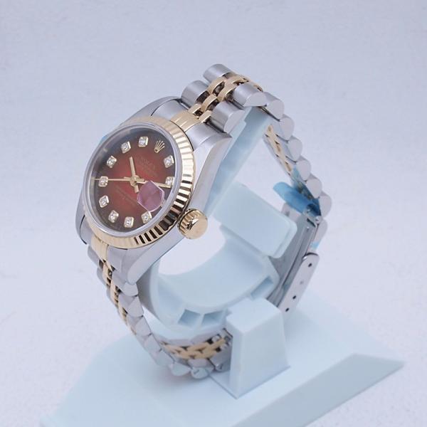 ロレックス ROLEX レディース腕時計 デイトジャスト 69173G SS/YG チェリーグラデーション文字盤 中古 新入荷 おすすめ RO0173 新着|ronde|02