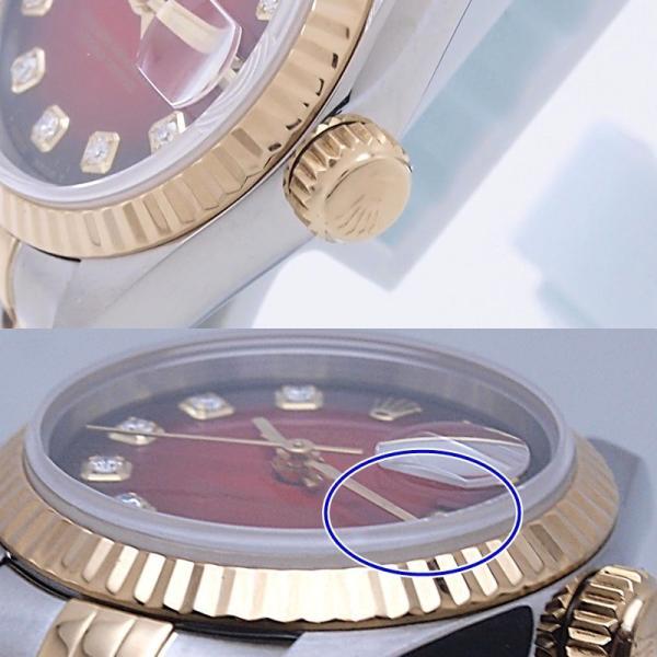 ロレックス ROLEX レディース腕時計 デイトジャスト 69173G SS/YG チェリーグラデーション文字盤 中古 新入荷 おすすめ RO0173 新着|ronde|05
