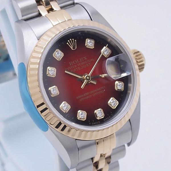 ロレックス ROLEX レディース腕時計 デイトジャスト 69173G SS/YG チェリーグラデーション文字盤 中古 新入荷 おすすめ RO0173 新着|ronde|06