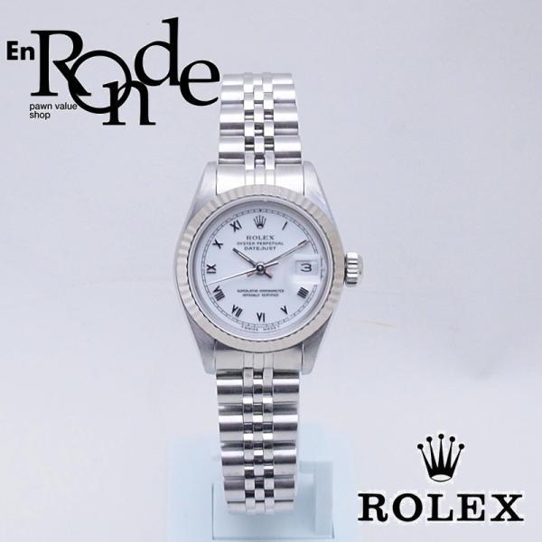ロレックスROLEXレディース腕時計デイトジャストホワイトローマン69174SSWGホワイト文字盤中古RO0174