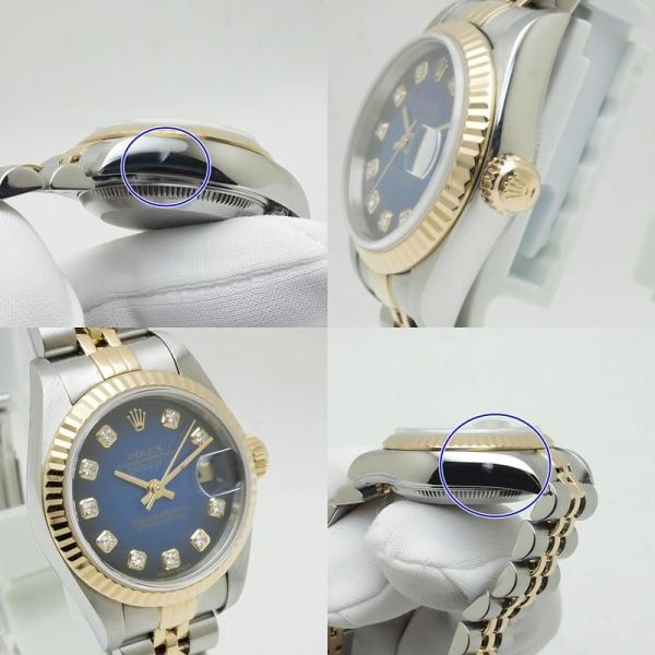 ロレックス ROLEX レディース腕時計 デイトジャスト 79173G SS/YG/10PD ブルーグラデーション文字盤 中古 新入荷 おすすめ RO0156|ronde|06