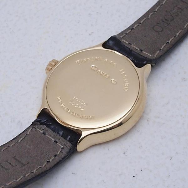 ティファニー Tiffany レディース腕時計 テソロ LQ0130 K18/革 ブラック文字盤 中古 新入荷 おすすめ TI0058 新着|ronde|04